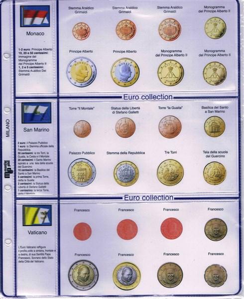7e95411ef1 I fogli sono composti da: un cartoncino con immagini e descrizioni delle  monete + 1 foglio in plastica speciale per contenere le monete.